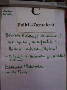 Armut & Politik/Demokratie - Workshop Plakat